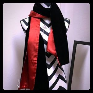 Black Velvet Scarf Wrap